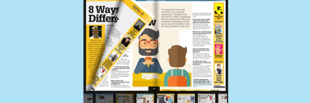 create an online magazine